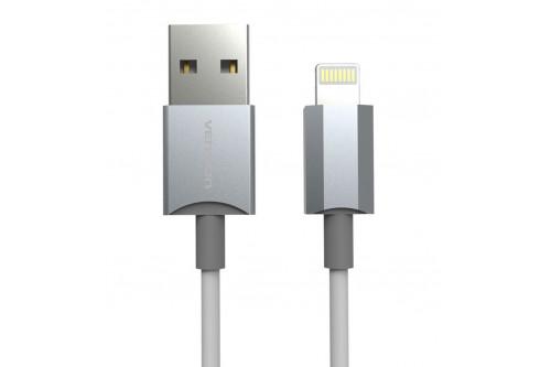 Кабель Vention USB 2.0 AM/Lightning MFI 8M для IPhone/IPad Серебристый