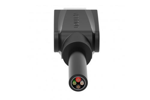 Кабель Vention USB Type C M/USB 2.0 AM Black Edition - 1м.