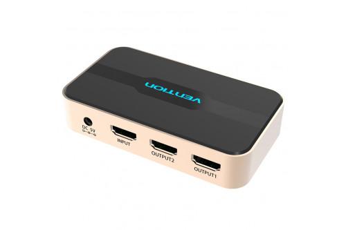 Разветвитель - сплиттер Vention HDMI 19F/2x19F на 2 монитора