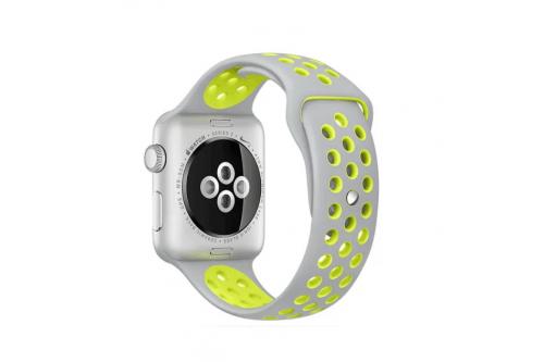 Ремешок спортивный EVA для Apple Watch 42/44mm Белый/Желтый