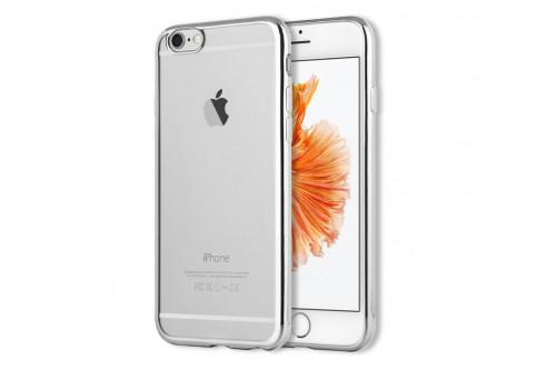 Чехол силиконовый EVA для Apple IPhone 6/6s - Прозрачный/Серебристый