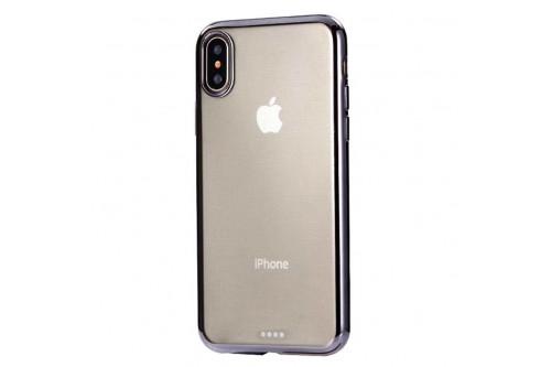 Чехол силиконовый EVA для Apple iPhone X - Прозрачный/Черный