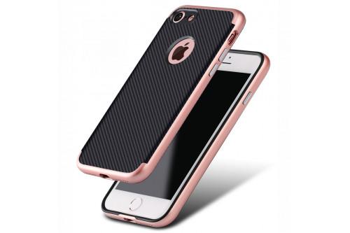 Чехол пластиковый EVA для Apple iPhone 7/8 - Черный/Розовый