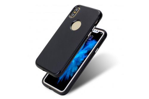 Чехол пластиковый EVA для Apple iPhone X - Черный
