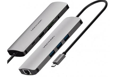 Мультифункциональный хаб Vention USB Type C 9 в 1