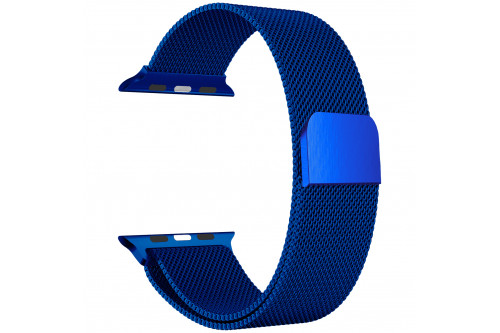Ремешок EVA Milanese Loop Stainless Steel  для Apple Watch 42/44 mm Синий