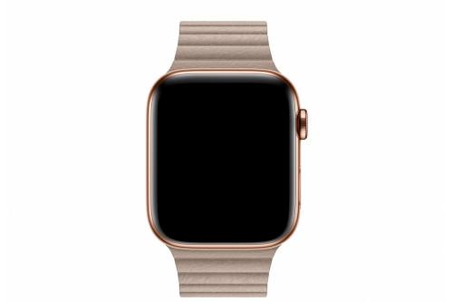 Кожаный ремешок EVA для Apple Watch 42/44 mm Бежевый