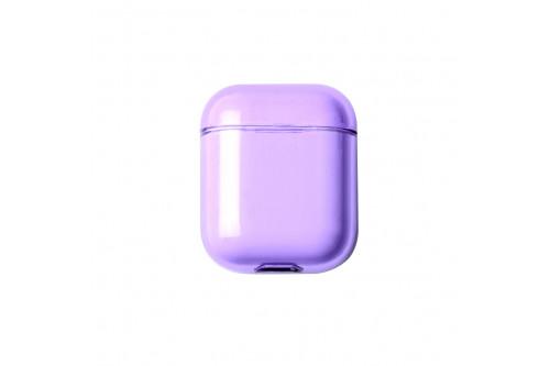 Чехол EVA для наушников Apple AirPods 1/2 - Прозрачно-Фиолетовый