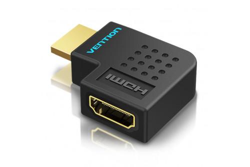 Адаптер-переходник Vention HDMI v2.0 19M/19F угол 90